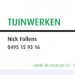 Tuinwerken Nick Follens