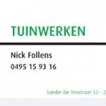 Tuinwerken Nick Follens